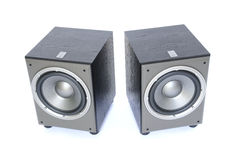 Two sub-woofers royalty free stock photo