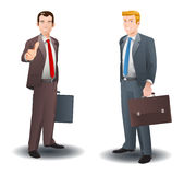 Two success businessman Royalty Free Stock Images