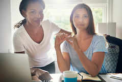 Two successful ambitious young businesswomen Royalty Free Stock Photography