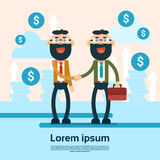 Two Successful Business Man Shake Hand Agreement Concept. Flat Vector Illustration Royalty Free Stock Photo