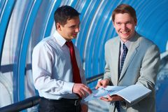 Two successful business men Royalty Free Stock Photo