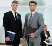 Two successful business people looking confident Royalty Free Stock Photo