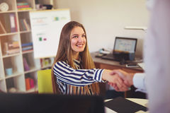 Two successful business partner shaking hands Royalty Free Stock Photography