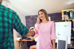 Two successful business partner shaking hands Stock Images