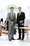 Two successful business people looking confident Royalty Free Stock Image