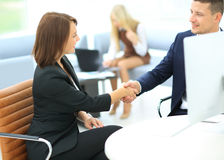 Two successful business people Royalty Free Stock Photo