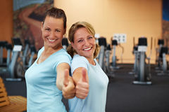 Two successful employees in gym Royalty Free Stock Photography