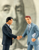 Two successful handshaking businessmen Royalty Free Stock Photo