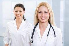 Two successful physicians Stock Images