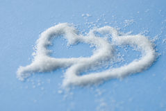 Two sugar hearts Royalty Free Stock Photography