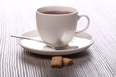 Two sugar and tea Royalty Free Stock Images