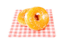 Two sugared delicious donuts Stock Photo