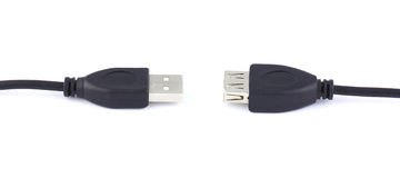 Two suitable one another usb connector Royalty Free Stock Photo