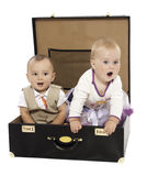 Two in a suitcase Stock Image