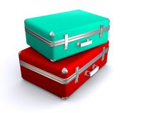 Two suitcases. On white background Stock Image