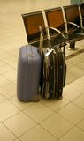 Two suitcases. Picture of two suitcases at the airport stock image
