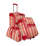 Two Suitcases And A Handbag. Royalty Free Stock Photos