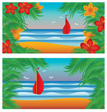 Two summer banners Royalty Free Stock Images