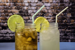 Two Summer Drinks Royalty Free Stock Photo