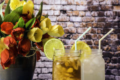 Two Summer Drinks Royalty Free Stock Photography