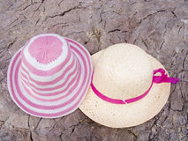 Two summer hats Royalty Free Stock Image