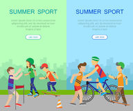 Two Summer Sport Banners Stock Image