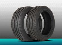 Two summer sports tire Stock Photo
