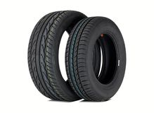 Two summer tires Royalty Free Stock Photography