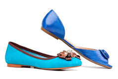Two summer women shoes against white Royalty Free Stock Photos
