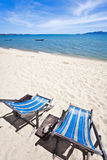 Two sun beach chairs Stock Photography