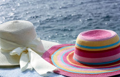 Two Sun Hats Stock Photography