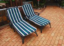 Two sun loungers Royalty Free Stock Images