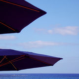 Two sun umbrellas Stock Photos