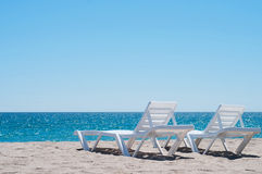 Two sunloungers Stock Image