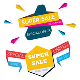 Two Super sale banners design. Stock Photography