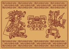 Two supreme deities of Mayya Royalty Free Stock Photography