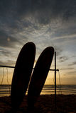 The two Surfboard. Royalty Free Stock Photography