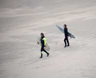 Two Surfers Royalty Free Stock Images