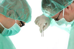Two Surgeon At Work Stock Photography