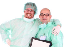 Two surgeon happiness Royalty Free Stock Photos