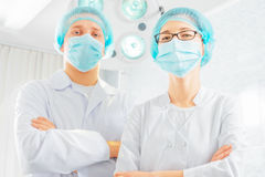Two surgeons doctors Stock Images