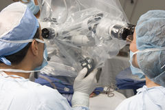Two Surgeons Using Operating Royalty Free Stock Image