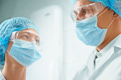 Two surgeons Royalty Free Stock Images