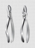 Two surgical pliers on transparent background Stock Images