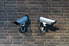 Two Surveillance Cameras Royalty Free Stock Image