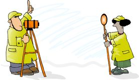 Two Surveyors Royalty Free Stock Photo