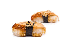 Two Sushi with Eel Stock Photo