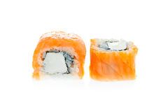 Two sushi rolls Royalty Free Stock Image