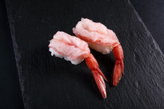 Two sushi shrimp Stock Photography