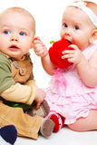 Two sweet babies Stock Image